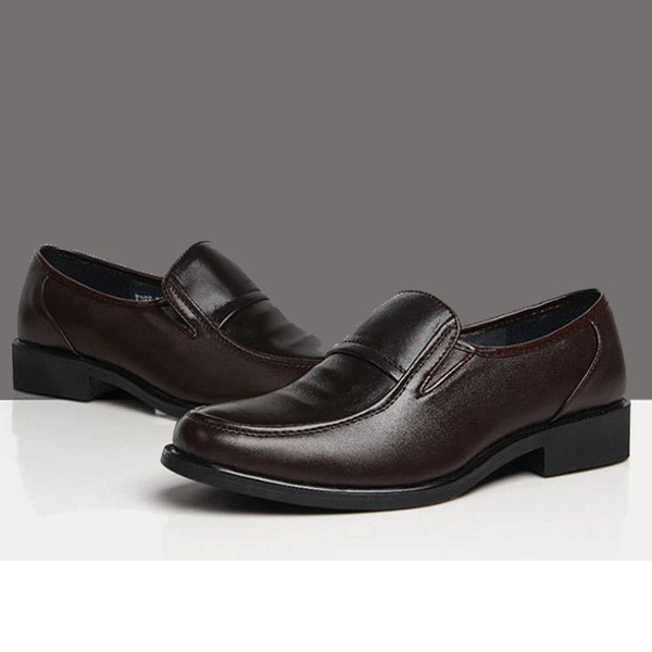 Mens Business Formal Shoes Artificial Leather Casual Slip-On Loafers