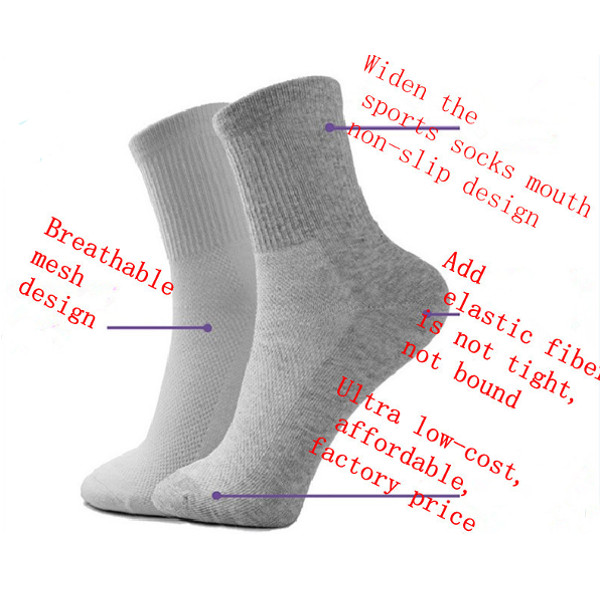 Mens Cosy Cotton Socks Casual Sport Fishnet Stockings Solid Socks