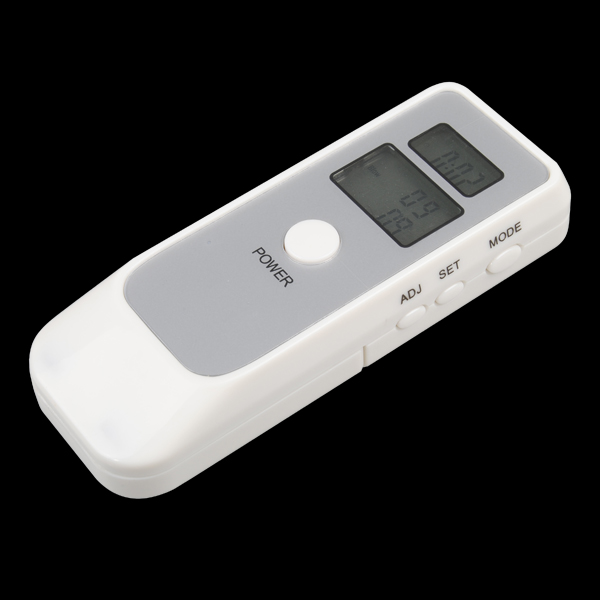 Dual Digital Alcohol Breath Tester Breathalyzer with LCD Clock