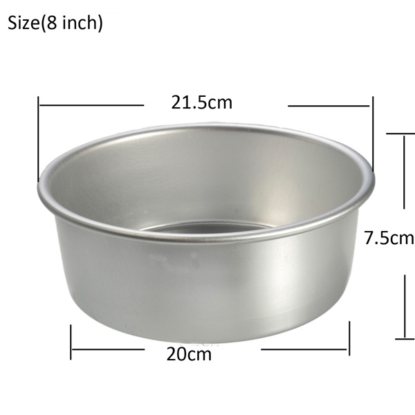 Aluminum Alloy Non Sticky Round Cake Mould Baking Pan Bakeware Kitchen Tools