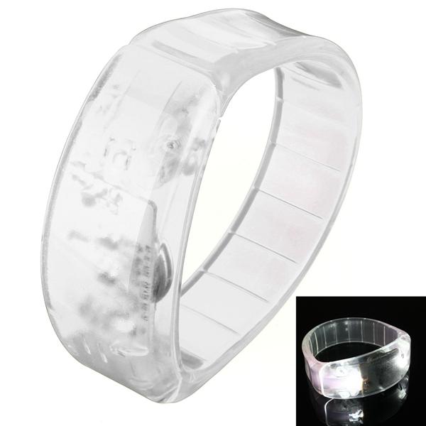 Voice Control LED Light Glows Wristbands Bracelet Bangle Party Concert Decorations