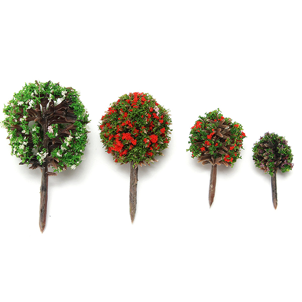 DIY Landscape Colorful Flower Tree Potted Plant Garden Decor