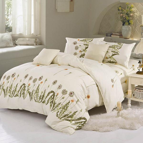 4pcs Suit Polyester Fiber Eternal Love Reactive Dyeing Bedding Sets