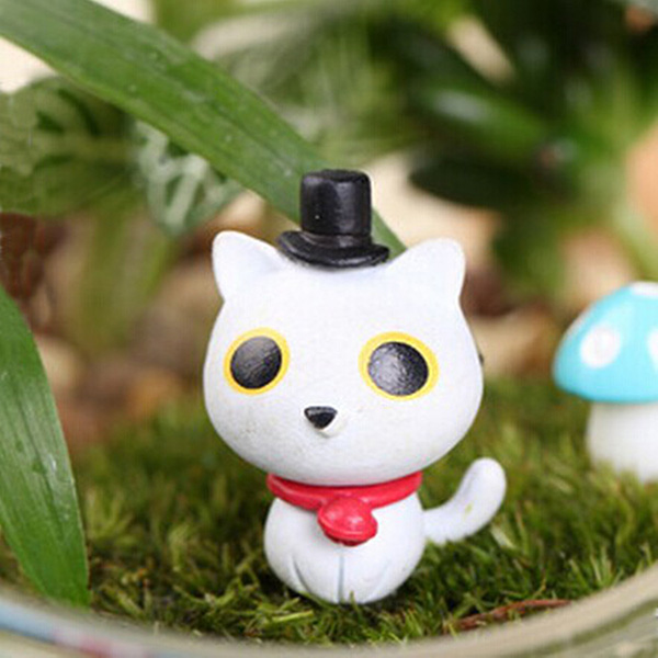 DIY Landscape Cute Cat Ornaments Potted Plant Garden Decor