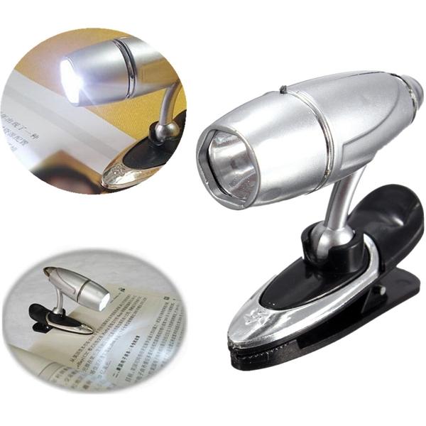 Mini Bullet Shape LED Adjustable Reading Light Clip Book Study Lamp