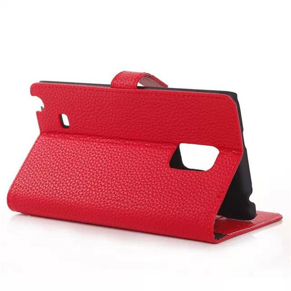 Flip Litchi Grain PU Leather Case For Samsung Note Edge N915F N9150