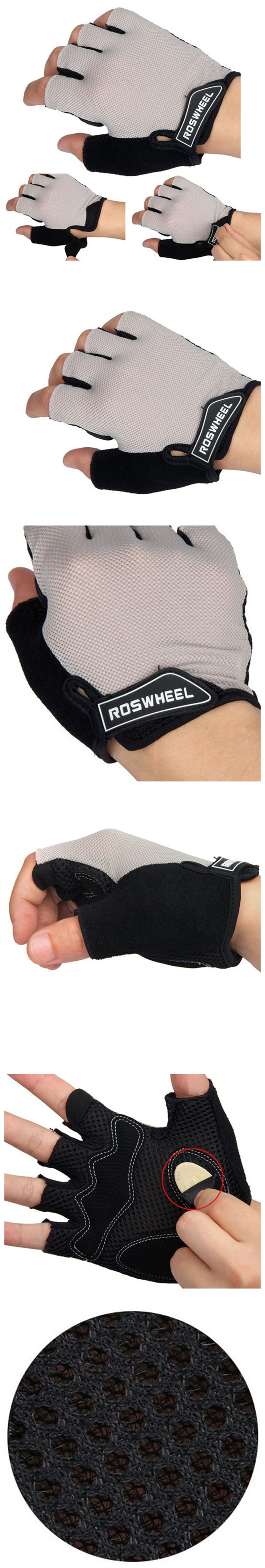 ROSWHEEL Cycling Half Finger Gloves Outdooors Glove Bike Accessories