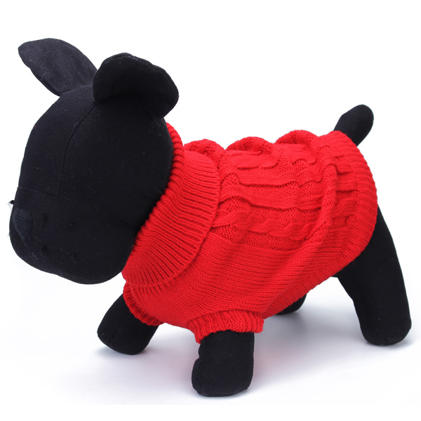 Pet Dog Cat Coat Winter Warm Sweater Knit Outwear Apparel