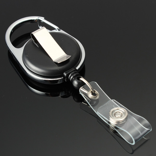 Retractable Chromed Metal Housing Badge Reel Belt Clip