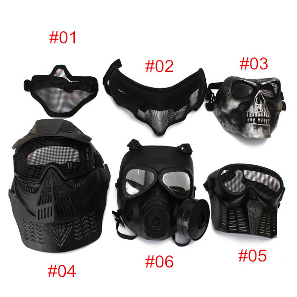 Protective Safety Mask For Paintball Airsoft Game Motorcycle CS Military Shooting Tactical 6 Styles
