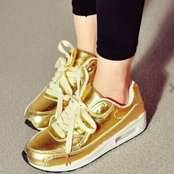 Womens Thick Sole Shoes Leisure Korean Platform Ladies Sneakers