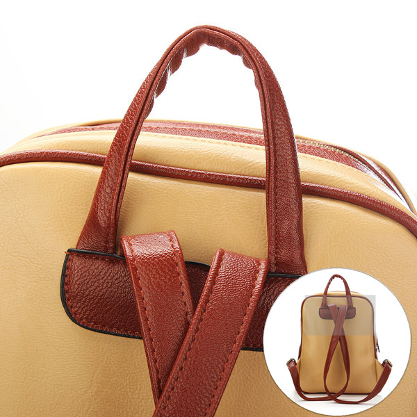 Vintage Women PU Leather Backpack Satchel Shoulder School Bag