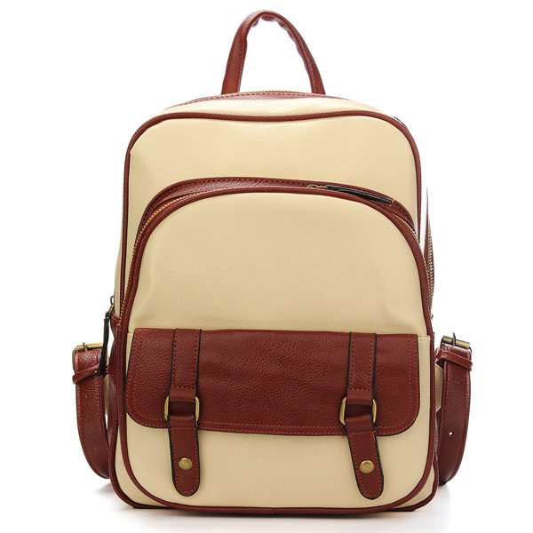 Vintage Women PU Leather Backpack Satchel Shoulder Scho