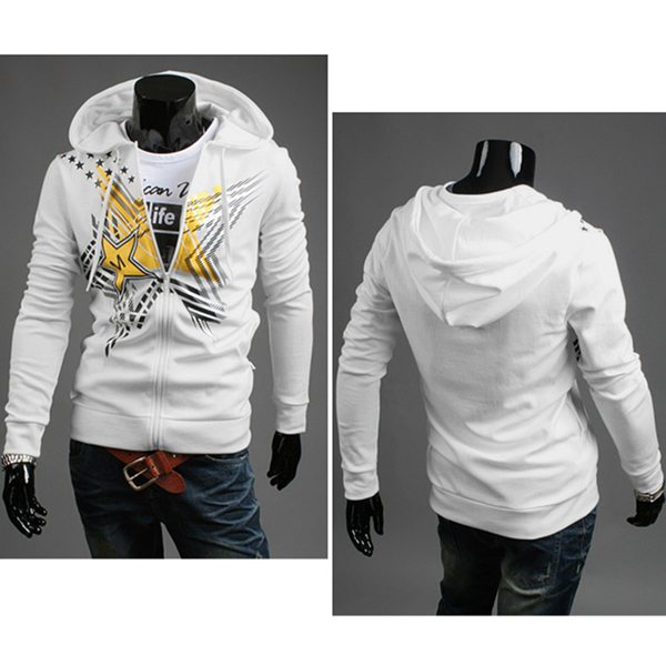Mens Casual Hooded Sportswear Pentagram Printing Fashion Hoodies