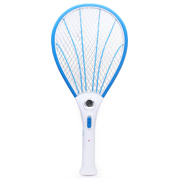 Rechargeable Electric Mosquito Fly Pest Killer Zapper Racket with LED