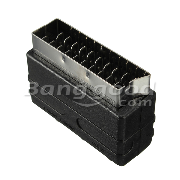 SCART Male Plug To 3 RCA Female AV Audio Video Adaptor Converter For TV DVD