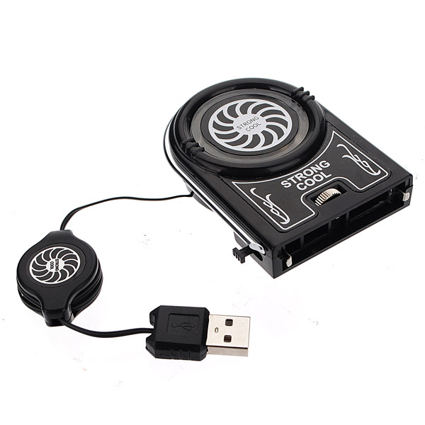 Mini Vacuum Blue LED USB Air Extracting Cooling Fan for Laptop