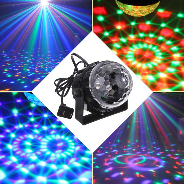 ARILUX® 5W Mini RGB LED Party Disco Club  Light Crystal Magic Ball Effect Stage Light for Christmas