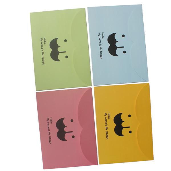 Moustache Pattern A4 Paper Envelope Document Files Bags Paper Folder