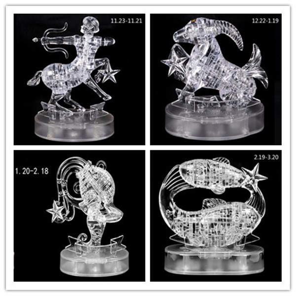 Ling Zhi Blocks Constellation 3D Crystal Puzzles With LED Lights 41 PCS