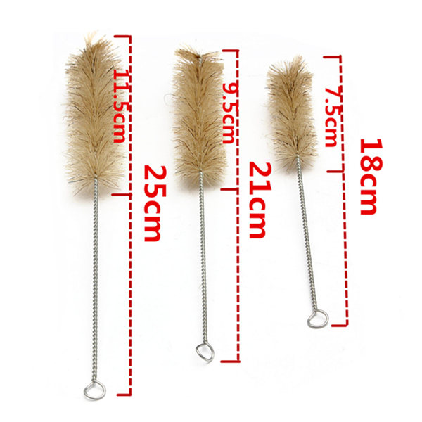 3pcs Test Tube Brushes Lab Cleaning Tool