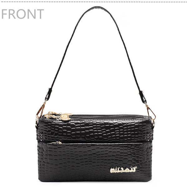 Women's Crocodile PU Leather Handbag Clutch Chain Shoulder Bags