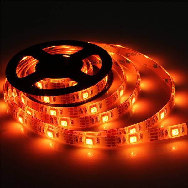 RGB LED Strip Lights with Battery Box Waterproof Craft Hobby Light 50-200CM