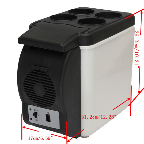 6L Mini Car Auto Home Camping Fridge Electric Cool Box Cooler and Warmer