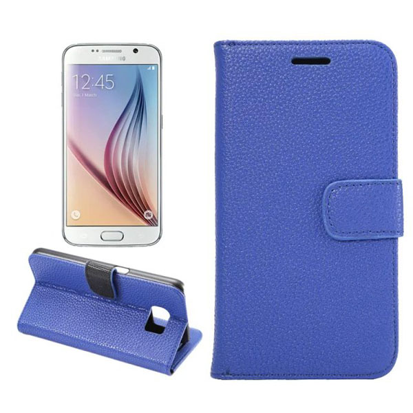 Litchi Grain Leather PU Flip-open Case For Samsung Galaxy S6 G9200