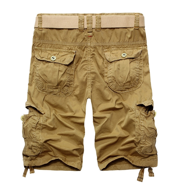 Mens Casual Cotton Fashion Multi Pockets Cargo ShorT-pants