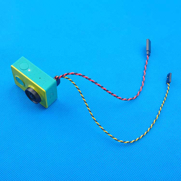 FPV Video Output Transmission Cable Line for XiaoMi Yi Sport Action Camera for RC Drone
