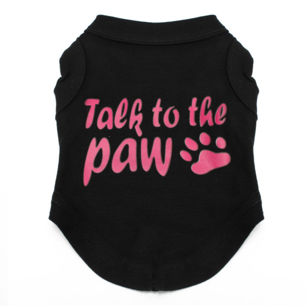 Talk to the Paw Small Paw Print Pet Dog Cat Summer Cotton Vest