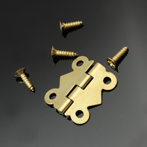 1pcs Iron Butterfly Butt Hinge For Mini Cabinet Drawer Jewelry Box 20X16mm