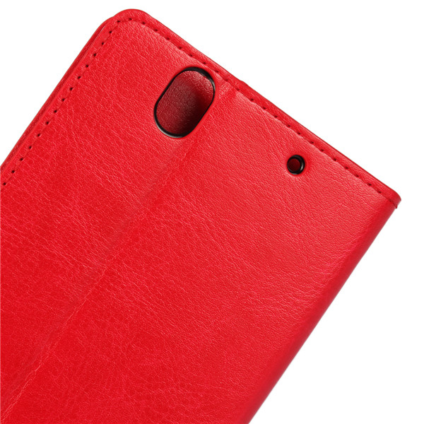 Flip Wallet PU Leather Stand Case Cover For Sony Xperia Z4