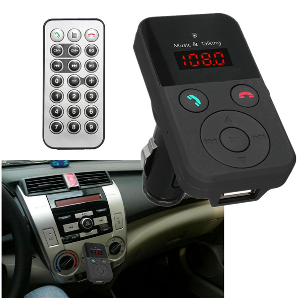 LCD Car Kit FM Transimittervs USB Charger TF MP3 Wireless Hands Free Mic