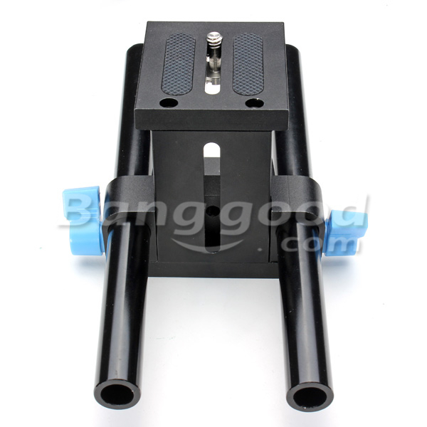 15mm Rail Rod Base Plate Mount For DSLR Follow Focus Rig 5D2 5D3-A