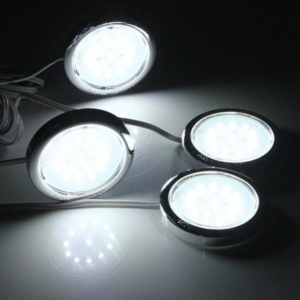 4P LED Home Kitchen Cabinet Shelf Night Light Energy-saving Lamp Bulbs