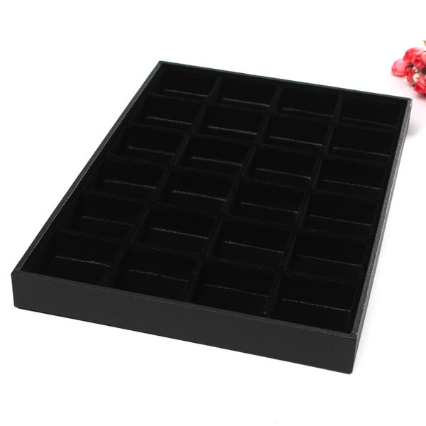 24 Grids Jewelry Display Storage Box Ear Pin Organizer Holder Case