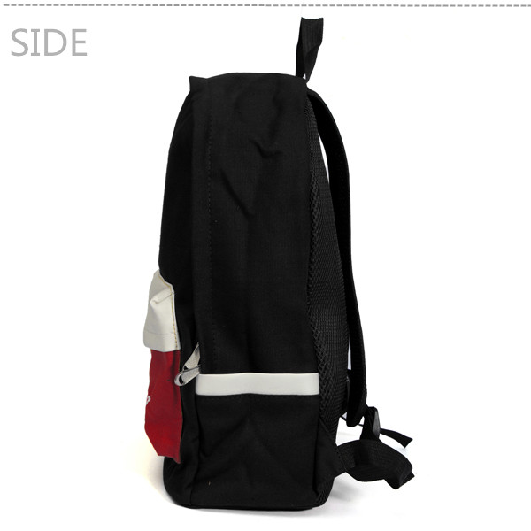 Women Shoulder Contrast Color Canvas Backpack Computer Student Bags