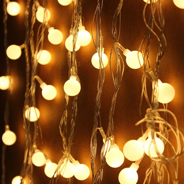 10m Warm White 100LED Ball Fairy String Light For Wedding Party Christmas
