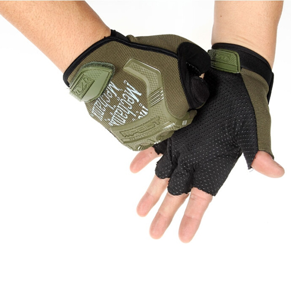 Tactical Half Finger Gloves Military Outdoor Assault Mitten Cycling