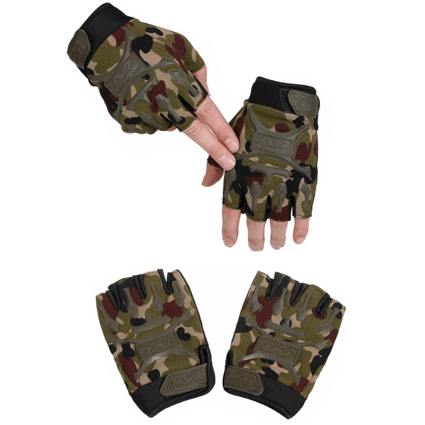 Tactical Outdoor Half Finger Gloves Antiskid Sport Cycling Motorcycle