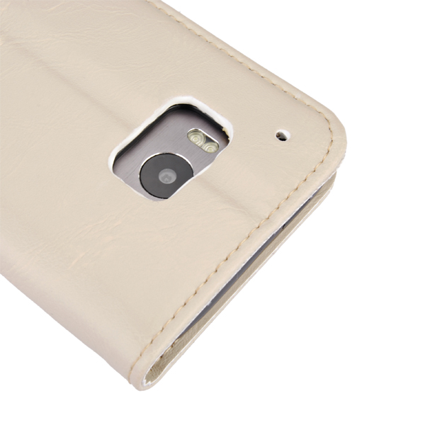 Crazy Horse Pattern Stand Leather Case Cover For HTC One M9