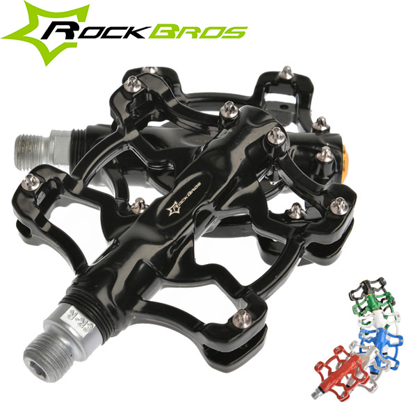 ROCKBROS Mountain Bike Pedals Double Bearing Aluminum Alloy Pedals