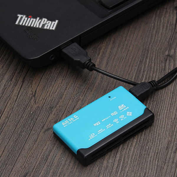 Portable USB 2.0 6 Ports Memory Card Reader for SD CF MS MMC XD TF