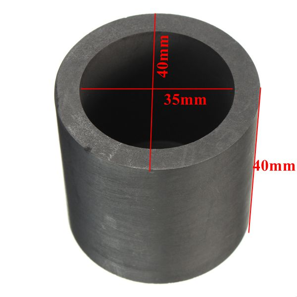 40X40mm Graphite Crucible Ingot Bar Combo Mold For Silver Gold Melting Casting