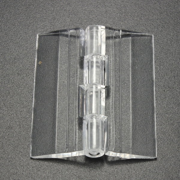 45x38mm Door Window Clear PMMA Acrylic Folding Hinge Plexiglass Hinge