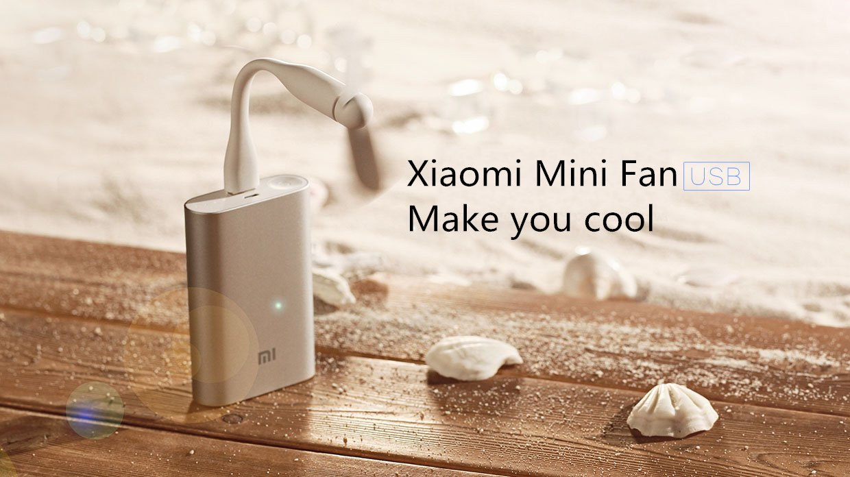 Original Xiaomi Portable Flexible USB Mini Fan For Power Bank Laptop