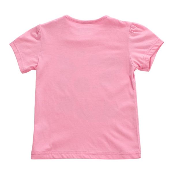 Little Maven Baby Girl Children Panda Red Cotton Short Sleeve T-shirt Top