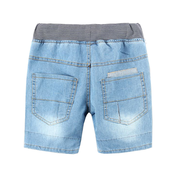 Children Boy Light Blue Spring Summer Jeans Super Soft Washing Shorts Pants Trousers